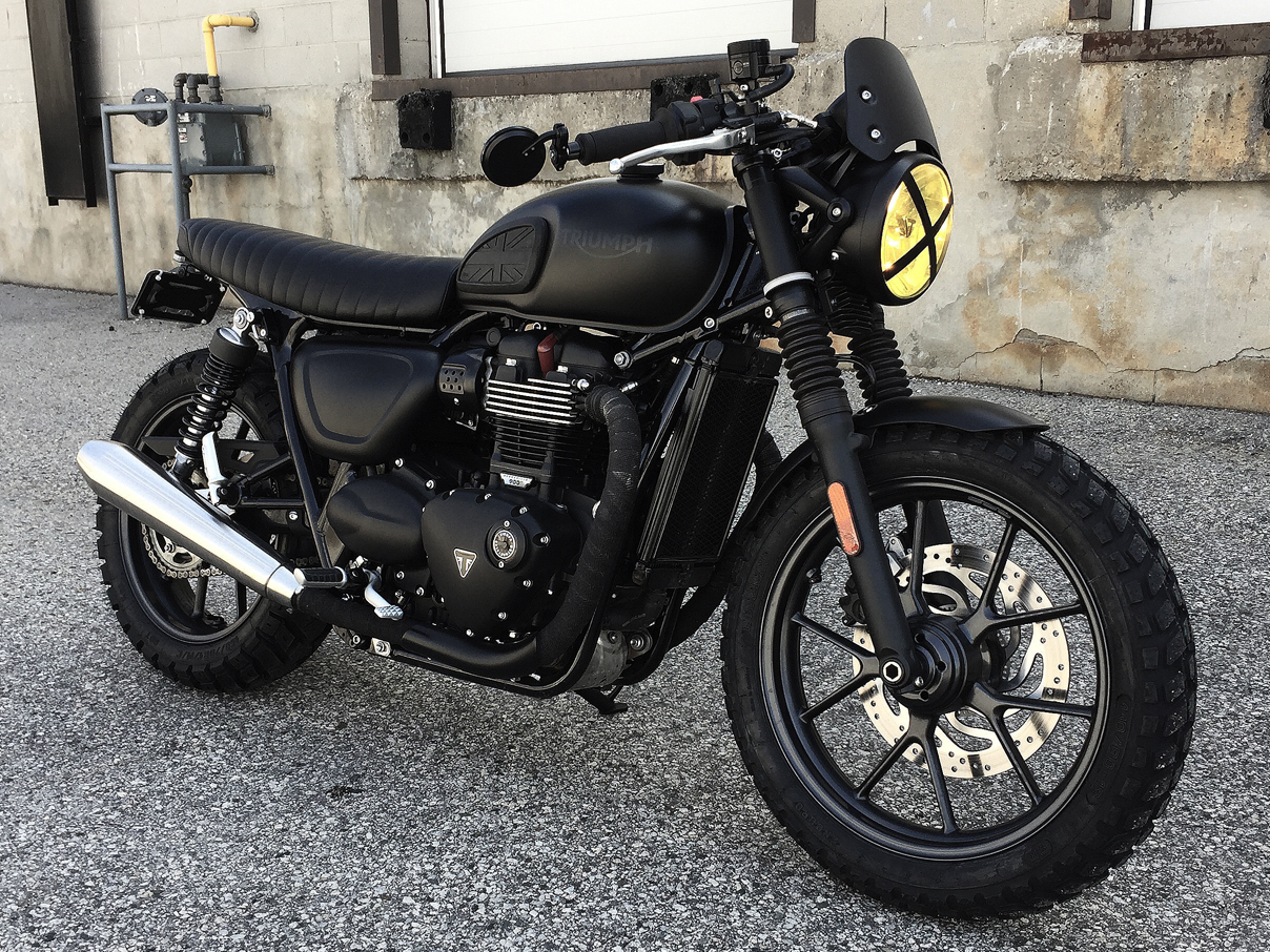 george sully george sully s custom triumph street twin black betty build. Black Bedroom Furniture Sets. Home Design Ideas